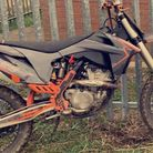 The 17-year-old's orange KTM 350cc SXF motocross bike was stolen in West End, March on Monday, May 3.