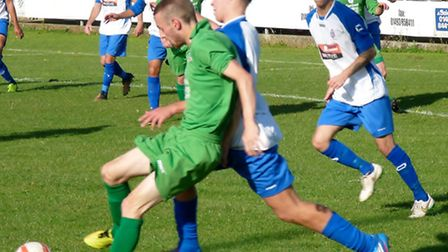 Gorleston, green, will be hoping for a better 90 minutes than they endured on Saturday. Picture: DAV