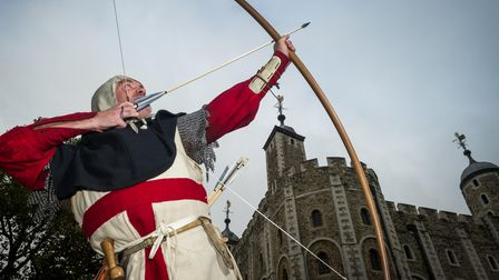 Longbow archer atTower of London
