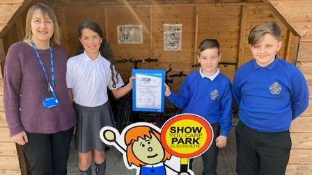 Exning Primary School have become the first Suffolk school to receive the silver award byModeshift STARS