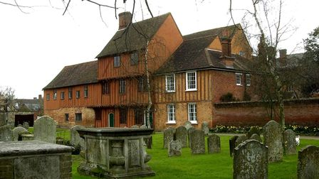 Hadleigh's Guildhall provides the setting for local author Peter Holland's latest novel