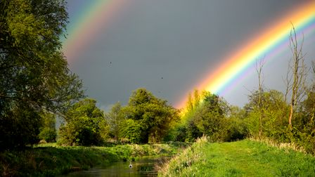 double rainbow at Narborough
