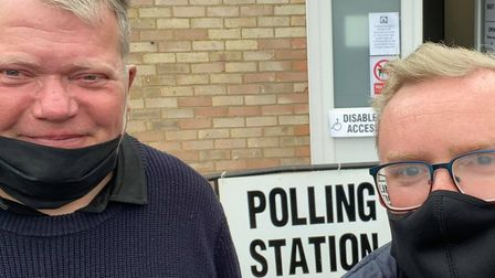 Local Elections voters at polling stations