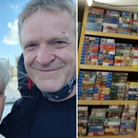 Lynn Pearl and her husband Gideon are pictured with the puzzle library