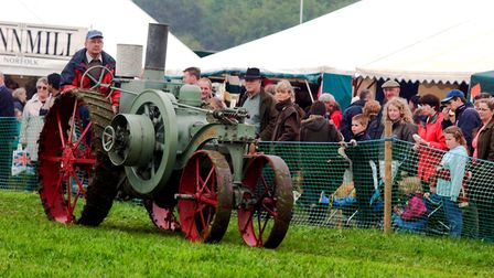EADT NEWS. One of the vintage tractors on display at the South Suffolk Show. PIC RICHARD SNASDELL