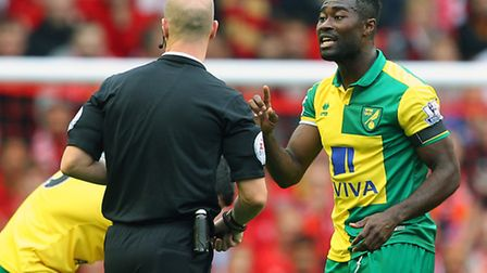 Alex Tettey is back for Norwich City after serving a one-match ban in the Capital One Cup win over W