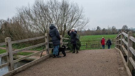 Walkers enjoying the scenery at Flatford Mill