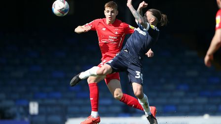Hector Kyprianou of Leyton Orient and Ricky Holmes of Southend United during Southend United vs Leyt