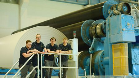 Palm Paper apprenticeships. Pictured are (from left) Cameron Hendry, Oliver Kivlin, Billy Hofert and