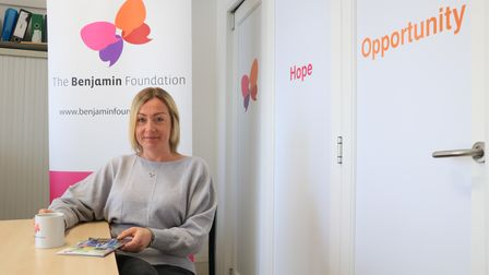 Claire Overton, manager of The Benjamin Foundation Heart and Home service