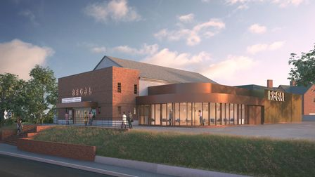 A render of how the completed theatre will look in Stowmarket