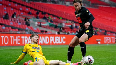 Lewis Simper plays for Concord Rangers in FA Trophy final at Wembley