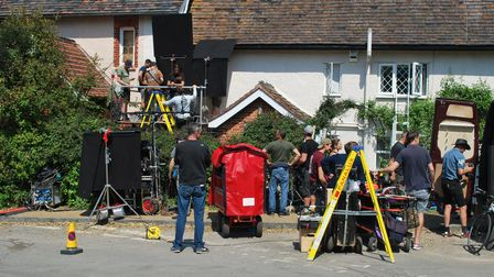 Filming in Duncwich for the new Danny Boyle and Richard Curtis film Yesterday. Picture: SCREEN SUFFO