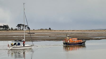 it was decided that the best course of action was to tow the vessel to the safety of Wells Harbour.
