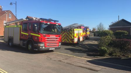 Fire crews were called out to a blaze at Bungay's public toilets at Priory Lane car park