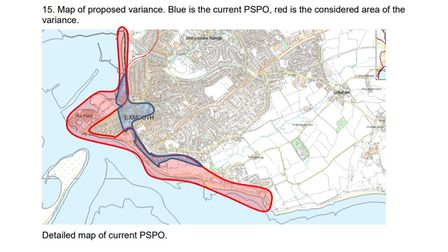The PSPO for Exmouth could be extended