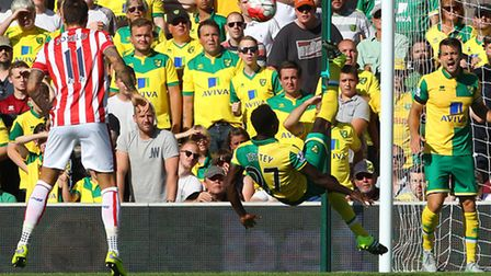 Norwich City midfielder Alex Tettey is close to an early season ban after picking up four bookings.