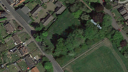 The site of the proposed bungalows in Framlingham