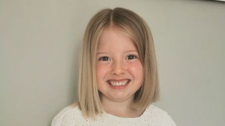 Amelia Wright after her haircut