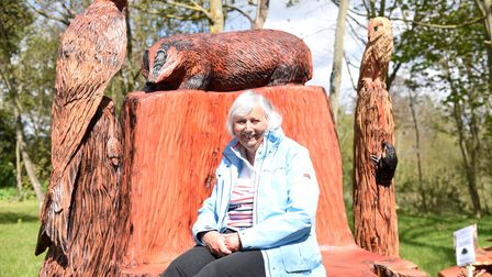 Jane Hawthorne, of Ufford Parish Council, sits on the chair