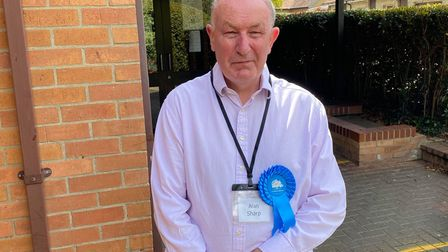 Conservative Alan Sharp was elected for Woodditton division, with 50.39% of the votes.