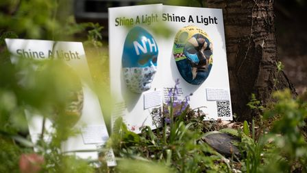 Students at SET Saxmundham School have designed masks for a 'Shine A Light' trail around the town, w