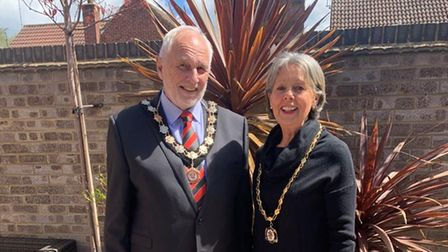 Great Dunmow Town Council Mayor Mike Coleman and Mayoress Pauline Coleman
