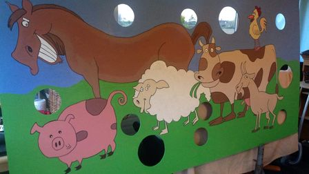 A piececreated by Amy Leonard voluntarily for an open day for the Field of Dreams Farm
