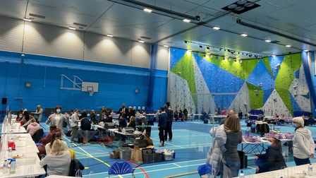 The Suffolk PCC election count in Waterlane Leisure Centre, Lowestoft