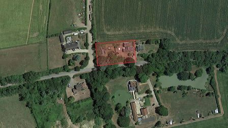 The application was lodged for three buildings on a private property near Rattlesden
