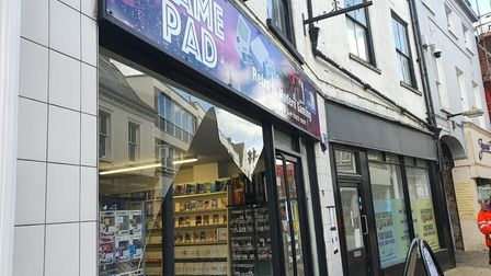 The Game Pad in King's Lynn released a video of a delivery driver who accidentally walked through their shop window.