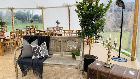 The outdoor dining experience at The Lion Brasserie in East Bergholt was a huge hit over the past month