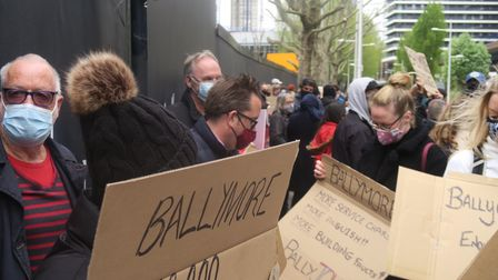 Canary Wharf Protest brought angry leaseholders from all over London and South East over cladding danger