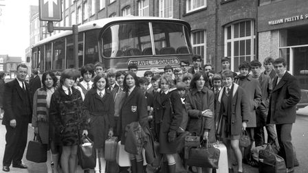 FOR EADT FLASHBACK DEC 8 08.The Ipswich and East Suffolk Schools cross-country team setting off
