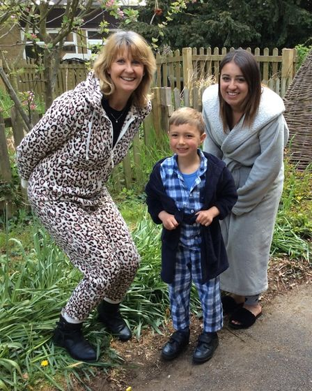Jack Chambers pictured with his teachers at Robert Arkenstall School