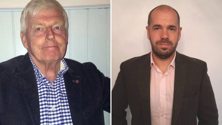Exmouth's county councillors Jeff Trail and RIchard Scott