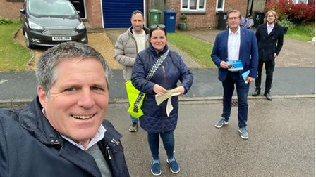 The James Palmer campaign team in South Cambridgeshire
