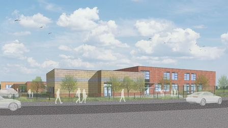 A CGI of the proposed primary and pre-school in Stowmarket