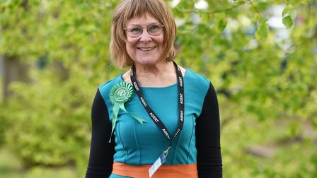 Julia Wakelam, The Green Party. West Suffolk Council election saw five Conservatives and on Green pa