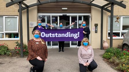 Staff of Davers Court care home in Bury St Edmunds