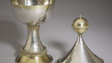 Medieval treasure: The £1.3 million Lacock Cup has been lent to Norwich Castle Museum by the British