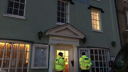 Security blocked the public and press from entering Attleborough Town Hall as the future of Taila Ta