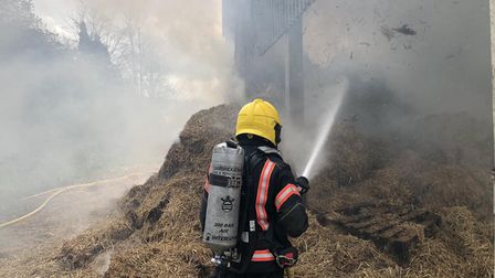 Firefighters from Cambridge, Linton, St Neotsand Newmarket were called to adeliberatebarn fire atWestley Waterless