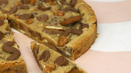 A stuffed cookie pie from Crumbs, Bury St Edmunds