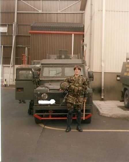 Lou serving in Northern Ireland in the 1990s.