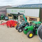 Farm machinery outside the new showroom at Ben Burgess Beeston