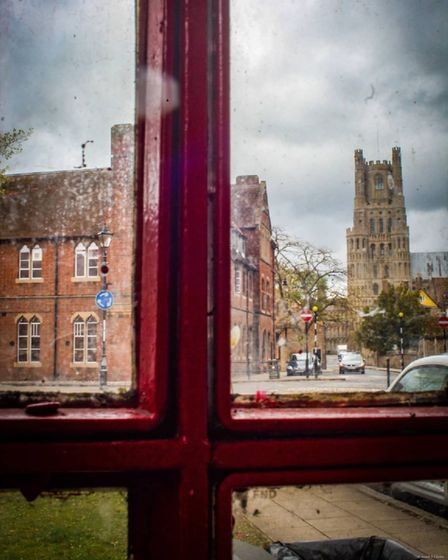 More different perspectives of Ely Cathedral this time in and around an old phonebox.