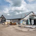Work is well underway on the new clubhouse at Long Melford Football Club. Picture: Sarah Lucy Brown