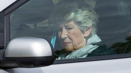 Lavinia Nourse, 77, of The Severals, Newmarket, arrives at Knights Chamber, Peterborough Cathedral V