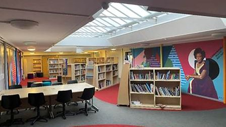 The new library at Downham Market Academy.